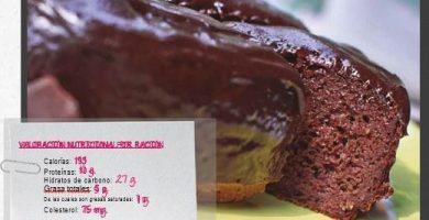 tarta de chocolate light